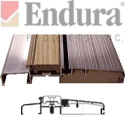 profile and section images of a adjustable outsiwng sill 5 5/8
