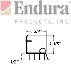 endura db34 door sweep dimensioned section