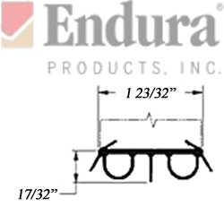 endura dbs-r door sweep dimensioned section