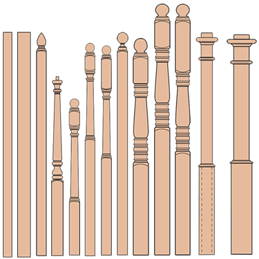 fitts newel post profiles