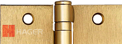 hager us4 dull brass hinge color and example