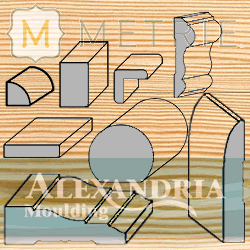 yellow pine grain background with metrie/alexandria logos and profiles