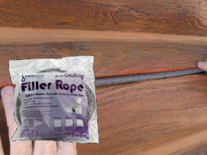 filler rope package with a log siding example background